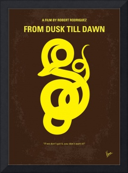 No127 My FROM DUSK THIS DAWN minimal movie poster