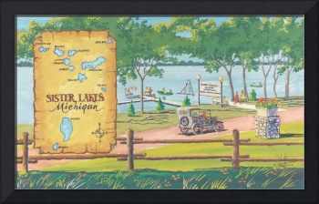 Sister Lakes Resort Map