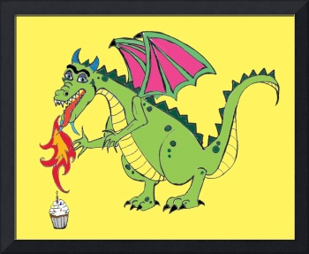 Birthday Dragon Cartoon