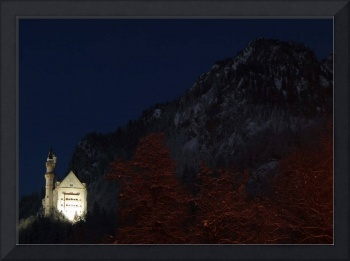 Neuchwanstein Castle at Night