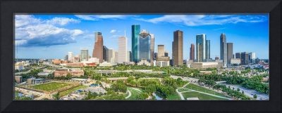 Houston Skyline Aerial Panorama