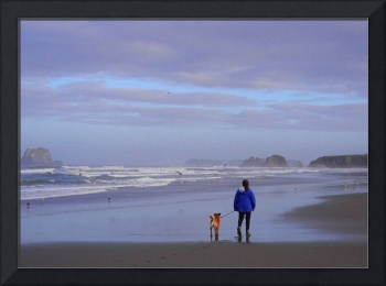 Sunrise stroll on Bandon Beach, Oregon