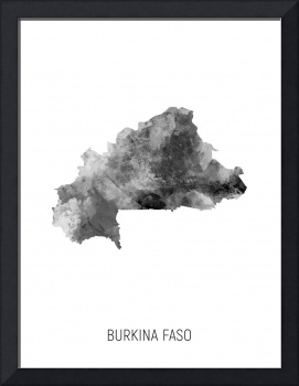 Burkina Faso Watercolor Map