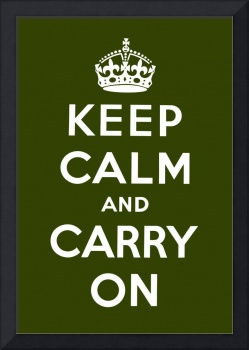 Green Keep Calm And Carry On 4