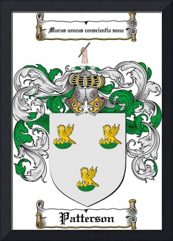 PATTERSON FAMILY CREST - COAT OF ARMS