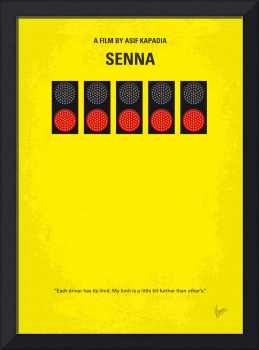 No075 My senna minimal movie poster