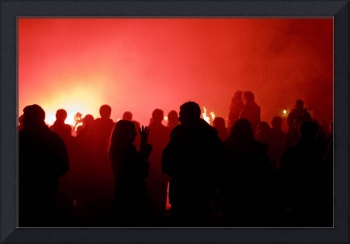 Crowd Red Silhouette