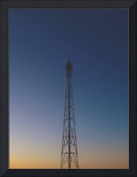 Simetrical Tower During Sunset