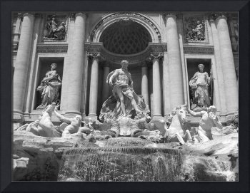 Trevi Fountain - Black and White
