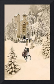 castle in snow envirement c.a.