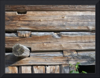 Old log wall 1