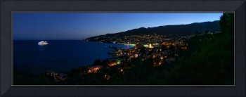 Evening Panorama of Yalta from Massandra Park
