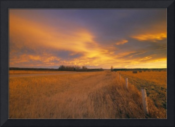 Chinook Arch At Sunset Near Bergen, Alberta, Canad