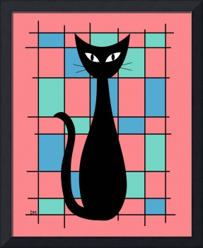 Abstract with Cat in Pink