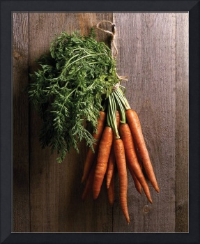 Carrots on wall