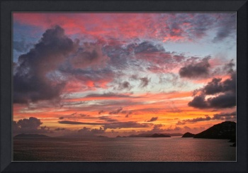 Sunrise over the Virgin Islands - Dec 2010