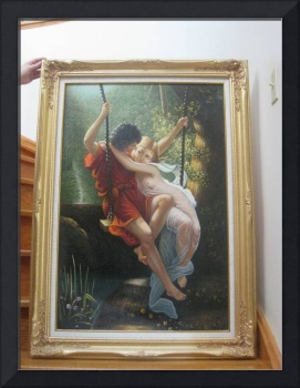 Lovers on Swing (Framed 30x42)