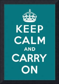 Blue Keep Calm And Carry On 2