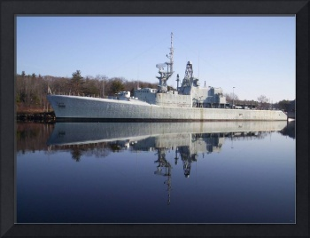 warship reflection, the H M C S Fraser