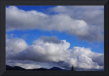Blue Sky Art Prints Weather Storm Clouds