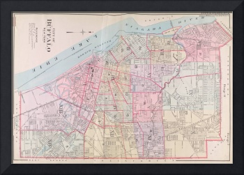 Vintage Map of Buffalo NY (1915)
