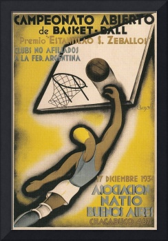 Buenos Aires Vintage Basketball Poster