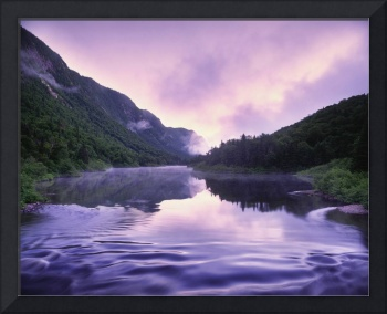 Jacques-Cartier River And Mist At Dawn, Jacques-Ca