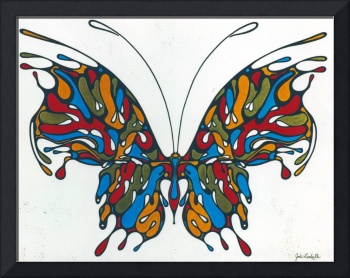 'Kaleidoscope' - Brilliant Blue And Red Butterfly