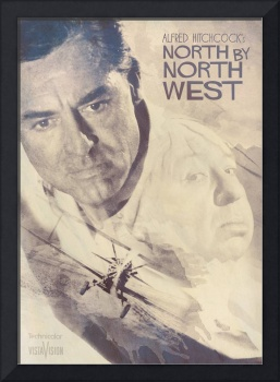 Hitchcock, Fine Art, Poster, North By Northwest, c