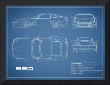 Ferrari 550 Blueprint