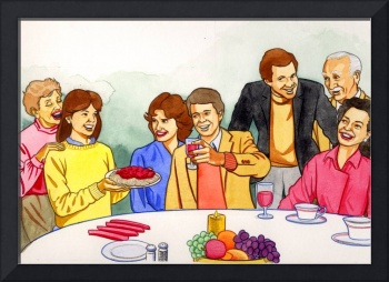 Family Holiday at the table