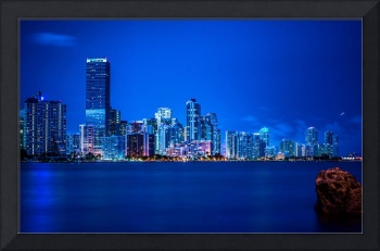 City Life Photo Framed Print