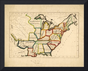 Map of the United States (circa 1819-1824)