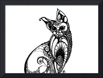 a patterned cat