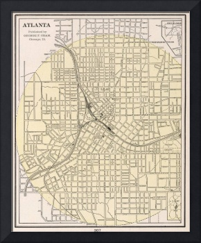Vintage Map of Atlanta Georgia (1901)