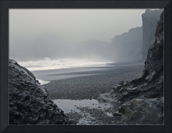 Volcanic beach at Dyrhólaey - South Iceland