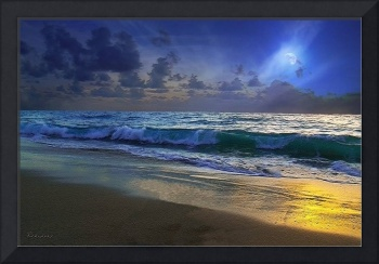 Moonlit Beach Seascape Treasure Coast Florida C4