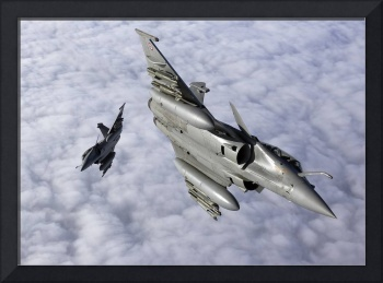 Dassault Rafale B of the French Air Force off the