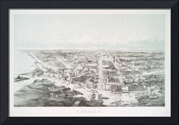 Vintage Pictorial Map of Buffalo NY (1853)