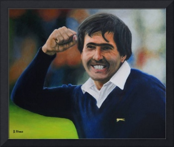 Seve Ballesteros Oil on Canvas