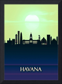 Havana City Skyline