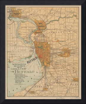 Vintage Map of Buffalo NY (1893)