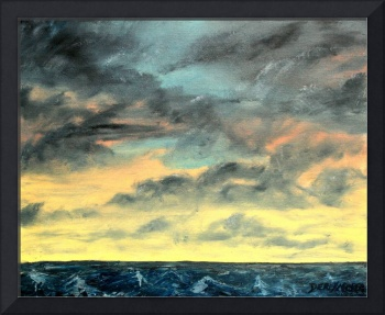 seascape oil painting art print