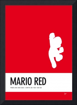 No33 My Minimal Color Code poster Mario
