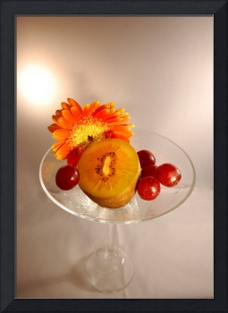 Fruits and Flower In Glass
