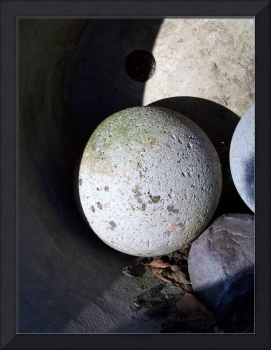 Stone Ball Casting a Shadow
