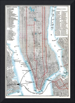New York City Points Of Interest In 1892