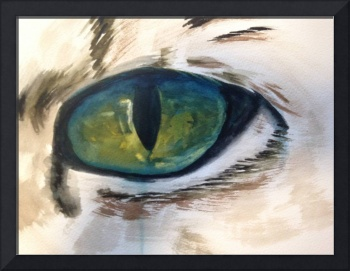 3 March 8 2014 Big Cat Eye water colour 10x16