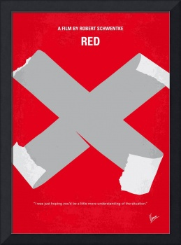 No495 My RED minimal movie poster
