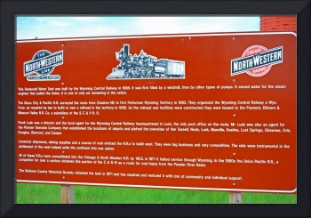 northwestern railway sign